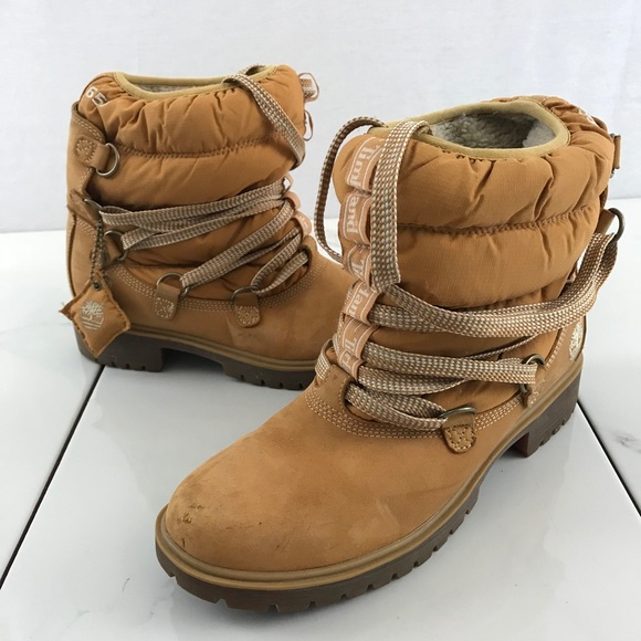 timberland quilted boots
